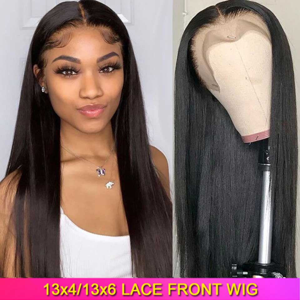 180 200 Density Lace Front Human Hair Wigs 13x4 13x6 Remy Brazilian Straight Lace Front Wigs With Baby Hair For Black Women