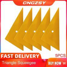 5Pcs Professionele Go Corner Zuigmond Window Tint Gereedschap Film Geel Schraper Auto Decals Vinyl Sticker Applicator Gereedschap 5A05