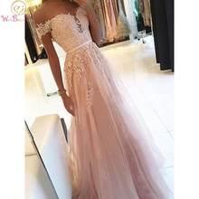 Кружевная аппликация для выпускного платья розовый 2020 a line