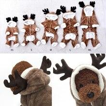 Рождественский Декор, одежда для собак, теплый флисовый костюм для питомцев, для кошек, котенок, комбинезоны, одежда для кошек, пальто, куртка, домашние животные, собака, рождественское платье