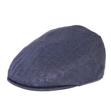 BOTVELA Linen Flat Cap Men Women Herringbone Newsboy Caps Driving Bunnet Ivy Hat Bakerboy Hats Summer Boina 006