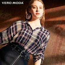 Vero Moda Women's Vintage 3/4 Sleeves V-neckline Knotted Hemline Plaid Shirt | 319331531