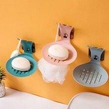 купить Wall-Mounted Soap Box Holder Bathroom Storage Box Drain Soap Dish L0826 по цене 105.6 рублей
