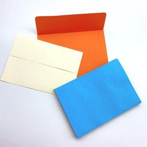 Image 3 - 100ピース/ロット素敵なキャンディーカラー封筒はがき文具紙封筒学校オフィスギフトクラフト封筒