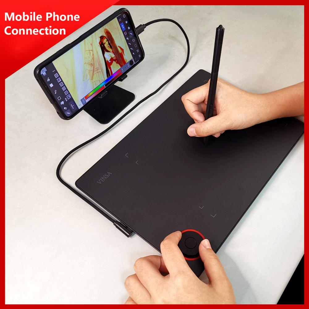 Buy Professional Graphics Drawing Tablet Writing Board Controller Knob 8192 Levels Battery Free Stylus Support Pc Laptop Smartphone Cicig