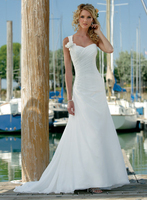 Vestido de noiva New Arrival Beach One Shoulder Chiffon Hand Made Flower 2018 bridal gown mother of the bride dresses