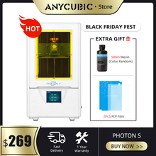 Anycubic光子s 3dプリンタと500ミリリットル樹脂2個fep液晶3D低電源sla 3dプリンタキットuvライトimpresora 3d