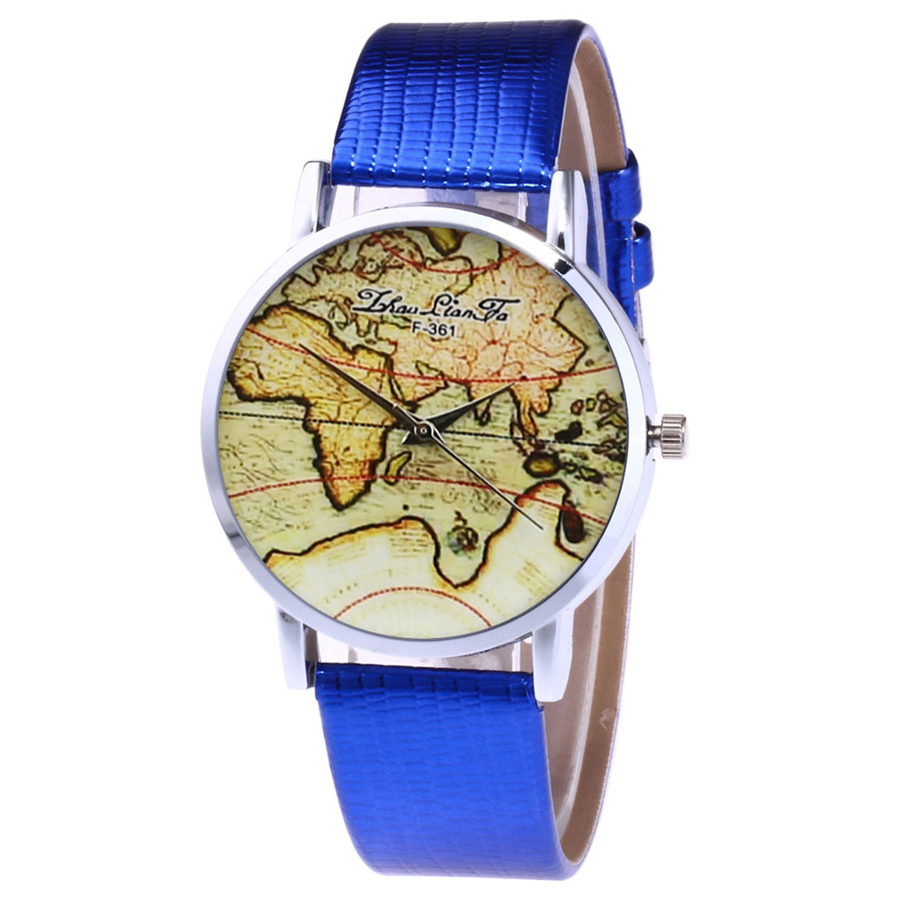 Fashion Quartz Watch Leather Strap Couple Watch For Women Men Couple Watches With Retro Style Printed LL@17
