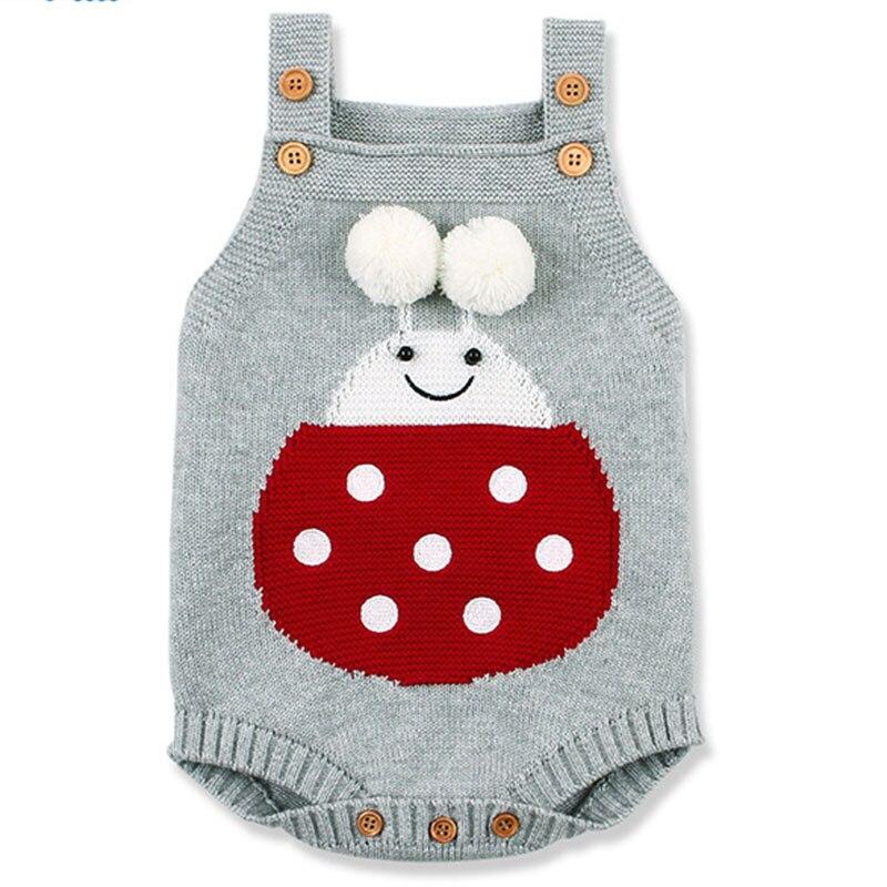 Baby Girls Body Jumpsuit Baby Boy Bodysuit Spring Girls Rompers Knitted Newborn Clothing Sleeveless Clothing
