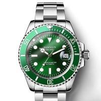 GUANQIN Design Brand Luxury Men Watches Automatic Black Watch Men Stainless Steel Waterproof Business Sport Mechanical Wristwatc
