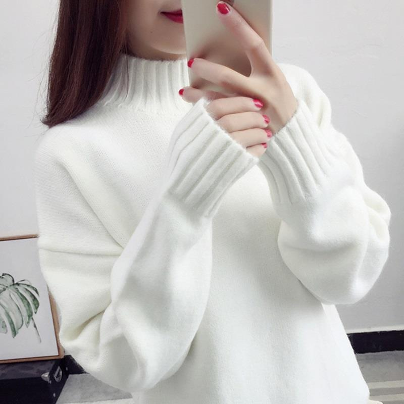 Cashmere Turtleneck Sweater Women 2021 Fashion Autumn Winter Pullover Jumper Pull Femme Hiver Streetwear Casual Knitted Sweater 1