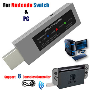 Image 1 - Mayflash Wireless for PS4/PS3/Xbox One S Controller Fighting Stick Adapter Magic NS to for Nintend Switch NS PC/NEOGEO MINI