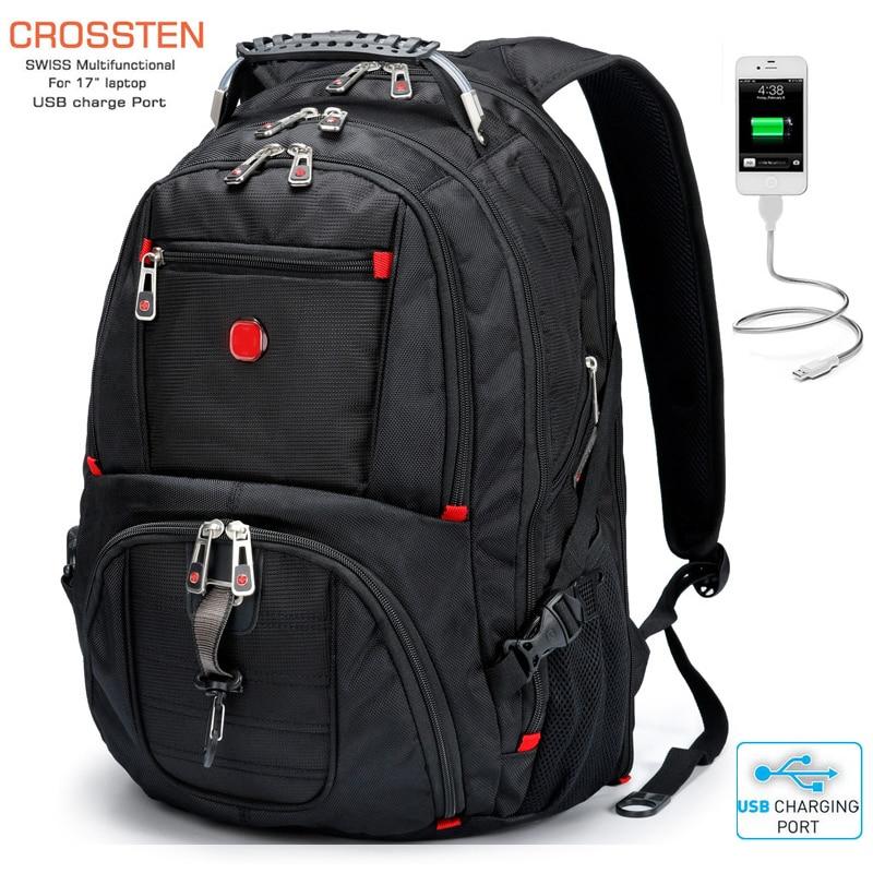 Новый швейцарский военный армейский водонепроницаемый дорожный рюкзак 17,3 дюйма, рюкзак для ноутбука, многофункциональный вместительный рюкзак с usb портом для зарядки|laptop backpack|backpack 15laptop backpack 15 | АлиЭкспресс