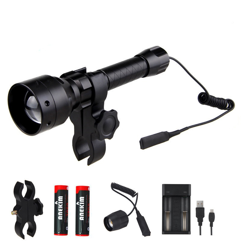 Hot Long Distance LED Flashlight 940nm Infrared  IR 850nm 500yard Hunting Light Night Vision Flashlight 18650 Flashlight