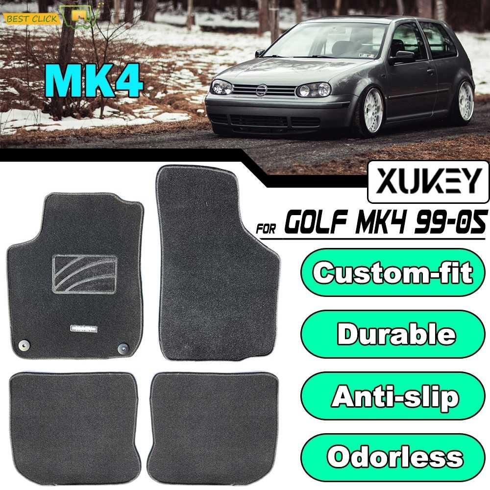 Se adapta a Vw Polo Mk 5 2009-2017 a Medida Alfombra Alfombrillas De Coche Negro 4pc Floor Volkswagen
