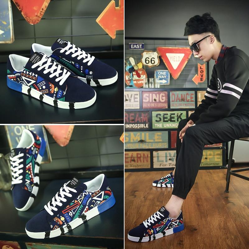 Novo homem tênis sapatos casuais amantes impressão moda plana tenis masculino sapatos vulcanizados zapatos de hombre