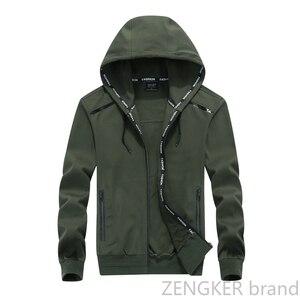Image 3 - Big size men plus size of mens hooded cardigan cotton zipper tide oversize students coat big yards jacket men 9XL 8XL