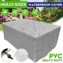 Cobertor para muebles de jardín, funda protectora resistente al agua, para Patio exterior, lluvia, nieve, para sofá, Mesa, a prueba de polvo, 20 tamaños