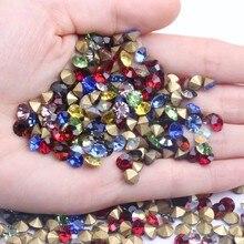 ss25-ss29 5,4-6,4mm Strass Chatons-Pedra Joalheria Vidro Nail-Art pontudo para trás Diamante-fornecedor Cone