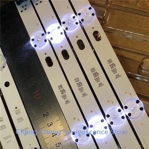 Image 3 - Светодиодная лента для подсветки LG, 6 шт./лот, 8 светодиодов, 850 мм