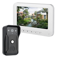 FFYY Mountainone 7 Inch Display Cable Video Phone Doorbell Infrared Rainband European Standard Plug Intercom System White Abs+ A