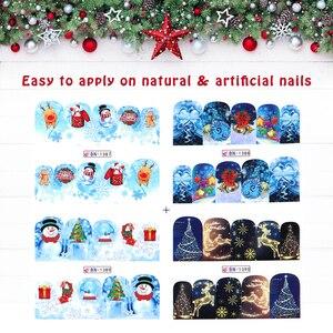 Image 5 - 3D tırnak çıkartmalar çivi Pop karikatür desen kaydırıcılar çivi yapıştırıcı DIY manikür İpuçları Nail Art Sticker manikür dekorasyon
