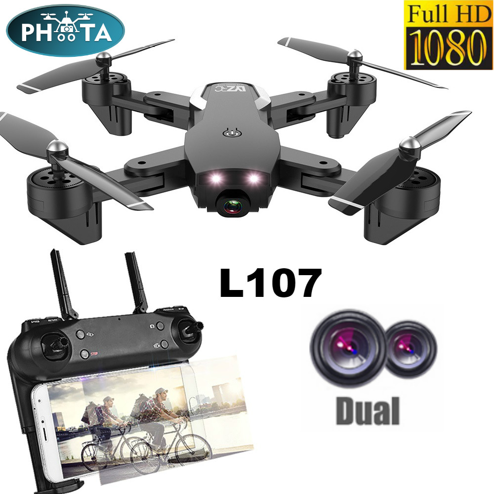 RC Drone Dual HD Camera 1080P selfie 2 4G WIFI FPV With Wide Angle RC Helicopter Toy 20minutes Long Flight Time Folding Portable
