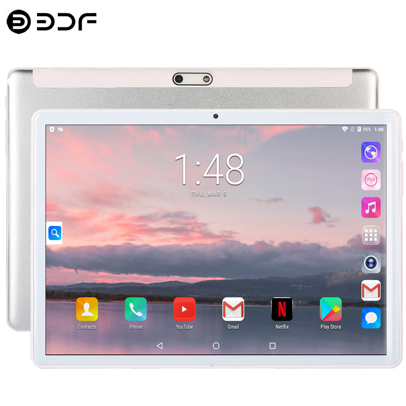 2.5D Glass 10.1 Inch Tablet Android 7.0 4G/3G Phone Call Quad Core 2GB RAM 32GB ROM 5.0MP IPS Cards Wi-Fi Bluetooth 4.0 Tablets