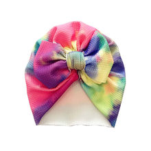 Baby turban hat Top knot Hat for Girls Big Bow Autumn Turban Infant Beanie Girl Accessories Photo Prop H263S