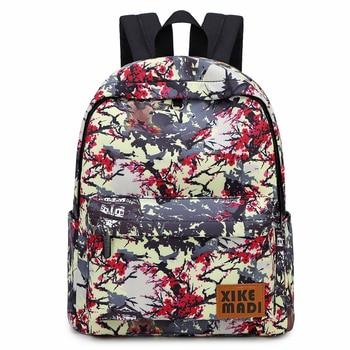 Oryginalny nowy szkoły torby dla nastolatków plecak dla dziewcząt kobieta trwałe kwiatowy plecaki chiński styl 14 cal plecak na laptopa Mochila