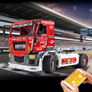 Image 4 - Molde rei 13152 técnica carro brinquedos compatíveis com MOC 27036 app motorizado caminhão de corrida mkii blocos de construção crianças presentes natal