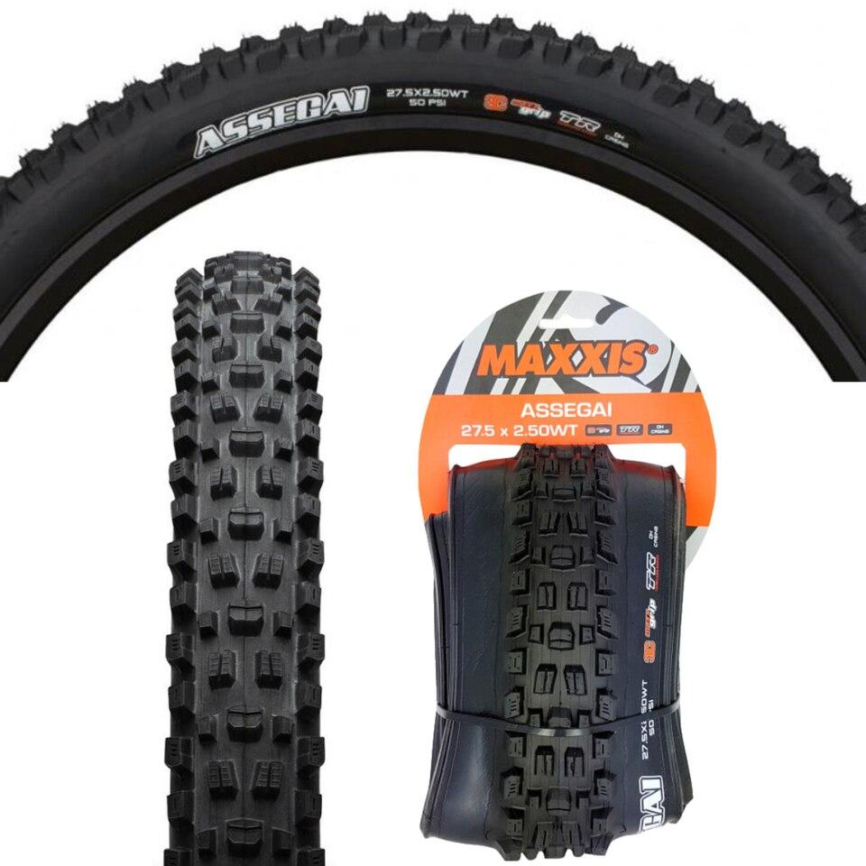 Assegai Tire 27.5 x 2.6 Folding Maxxis Assegai Tire Tubeless 3C Black