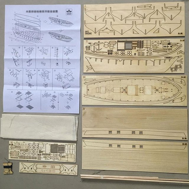 Échelle assemblage en bois voilier bricolage bateau modèle Kit décoration de la maison bateau enfants jouets cadeau voile modèle assemblé en bois Kit