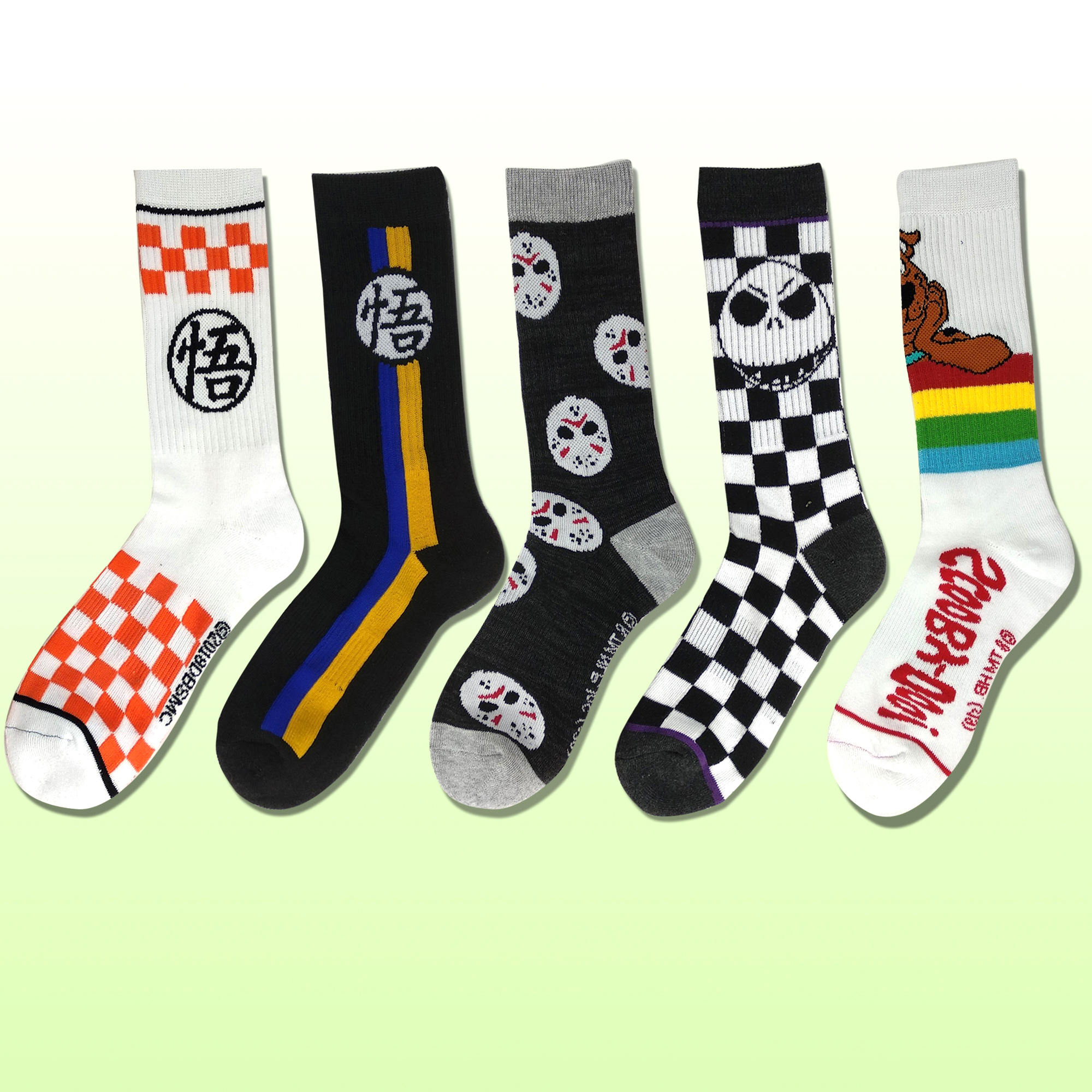 Mens black and white skull compression sweat-absorbent crazy socks cycling weird crew socks