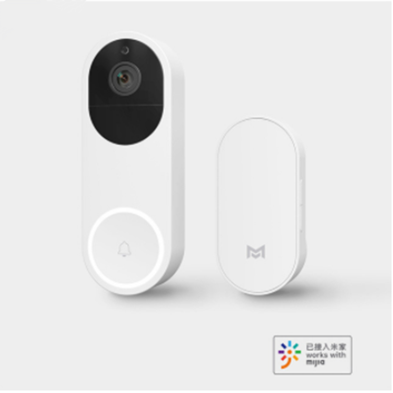 Newest Xiaomi Intelligent Visual Doorbell AI Face Recognition 1080P Infrared Night Vision Remote Video Call Doorbell Set