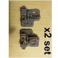 Para bmw x5 e53 janela regulador kit de reparo plástico slider  frente esquerda + direita (2 conjunto) 2000-2006