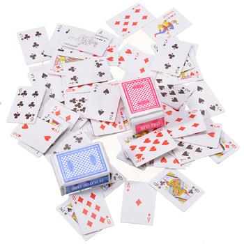 1 zestaw 1 12 miniaturowy domek dla lalek śliczne Mini karty do gry w pokera styl losowy zabawne modele Poker akcesoria do zabawek dekoracja tanie i dobre opinie Mayitr 8 lat Inne buławy Normalne Dollhouse Mini Playing Cards Nieograniczona 0-30 minut Other Podstawowym Papier