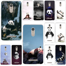 Super Cute Panda Soft TPU Funny Mobile Phone Cases for Xiaomi Mi Redmi Note 3S 4 4X 4A 5 5S 5A 6 6X 6A 8 A1 Pro Plus Max 3(China)