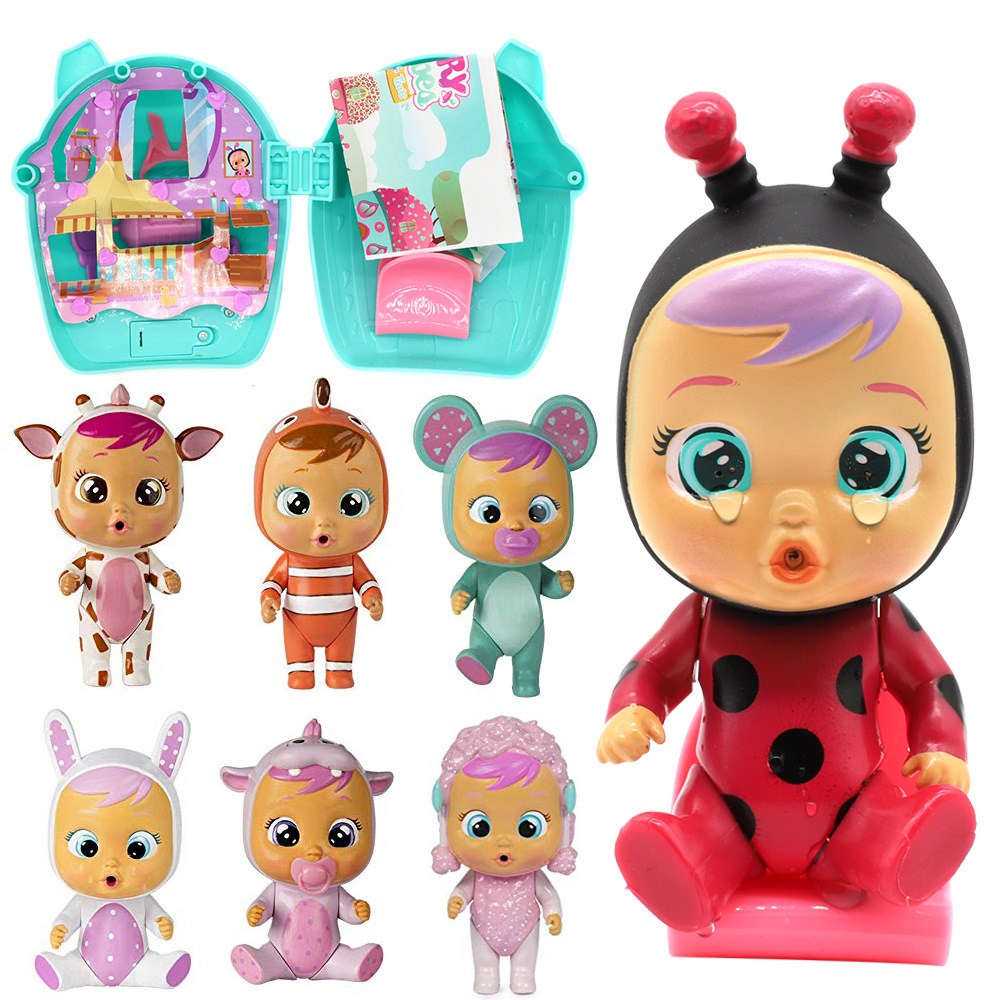 1pc 13cm Random box Blind Box Weeping Baby Crying Baby Cartoon Doll Kawaii Music Toy Reborn Baby Surprise Doll Birthday Present