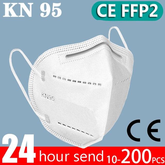 10-200 ffp2 Face mask KN95 Mouth Mask Safety Antibacterial Maske 95% Filtration mask protect dust mask ffp2mask Fast send