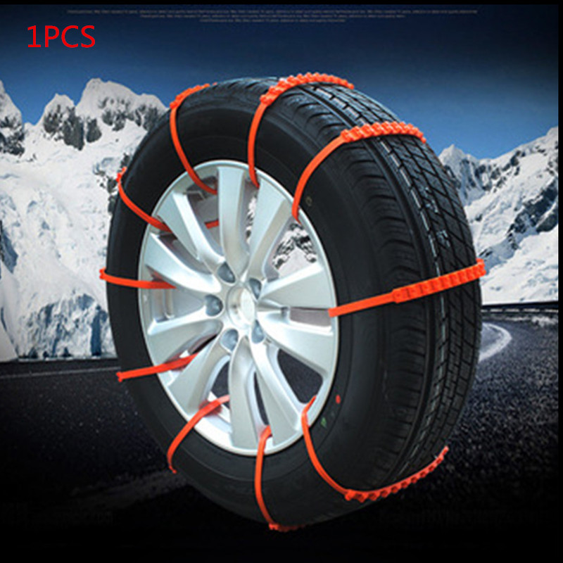 1Pc Car Wheel Tyre Emergency Chain Anti-Skid Snow Chains For Ice Snow Mud Sand Climb Road Safety Driving SUV Car Accessories