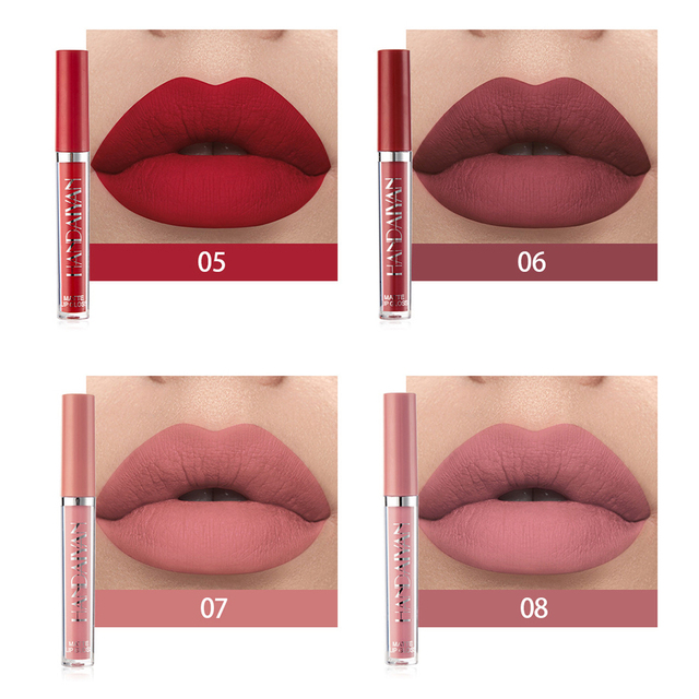 1Pcs Nude Glitter Shimmer Lipstick Waterproof Long Lasting Moist Lip Gloss  Colorful Lipgloss Sexy Women Glitter Liquid Makeup 3