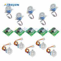 Módulo de placa de controlador ULN2003, 28BYJ-48, 5V/12V, engranaje de reducción, Motor paso a paso de 4 fases para Arduino, Kit DIY, 5 uds.