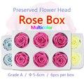 5-6 см 6 шт. большие консервированные Цветочные Розы в коробке Свежие Натуральные Сушеные цветные цветы в форме головы подарок DIY Материал нов...