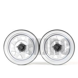 Image 3 - 4 шт. 1,9 дюйма металлическая Ступица колеса обод Beadlock для 1/10 Rc Гусеничный автомобиль Trx4 Bronco Rc4wd D90 D110 Axial Scx10 90046 Jimny Cfx Vs4