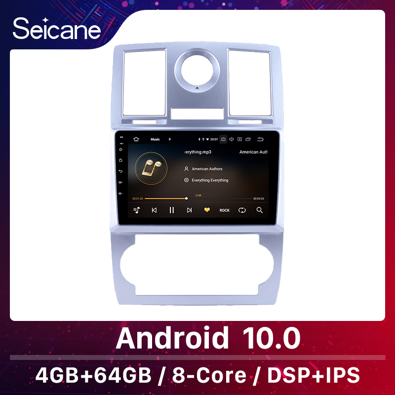 Seicane <font><b>1Din</b></font> 4+64GB Android 10.0 <font><b>multimedia</b></font> <font><b>car</b></font> 9
