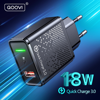 18W USB Charger EU Plug QC 3.0 Quick Charge Mobile Phone Universal Wall Adapter Fast Charging For iPhone 12 Samsung Xiaomi Redmi 1