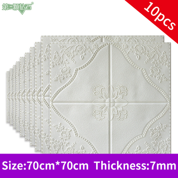 3D Imitation tile stone wall sticker wall paper wall ceiling decoration TV background decoration home bedroom decor wall panel