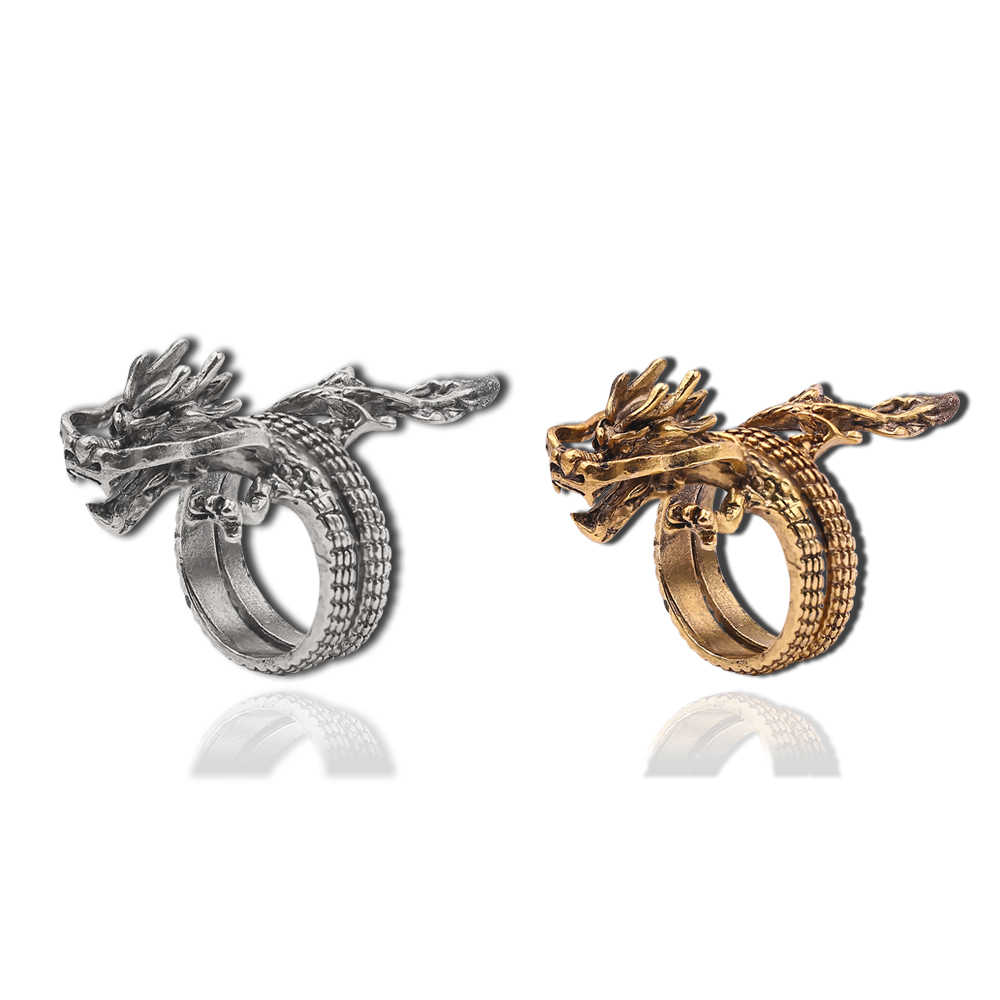 Gothic male female Dragon Ring personality exaggerated Chinese Dragon Ring Punk Hiphop Vintage Cool Men Women Boy Jewelry