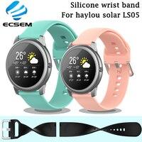 Correa de reloj para Xiaomi Haylou Solar LS05, accesorios de reloj, pulsera deportiva inteligente, correa de muñeca de silicona para xiaomi youpin